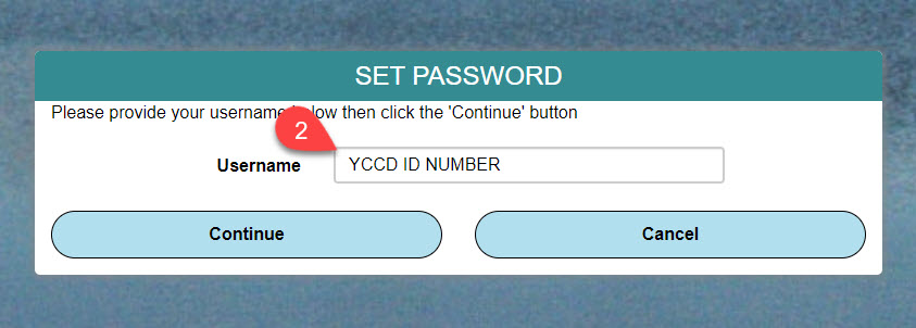 Image of Set Password screen