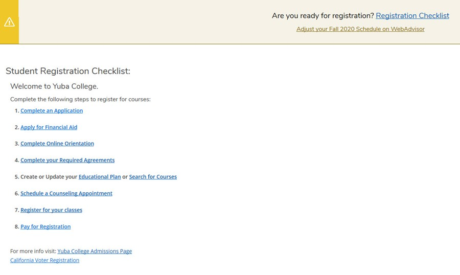Picture of Registration Checklist