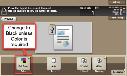 image pf printing options