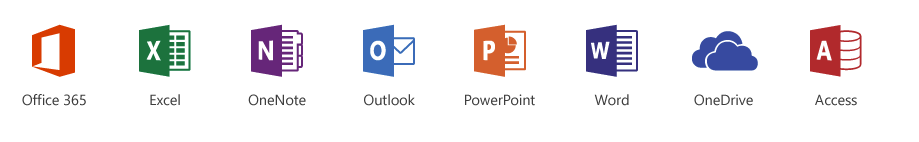 Image of office 365 program icons