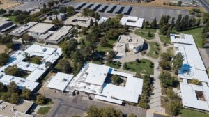 Image of fly over view of Yuba College