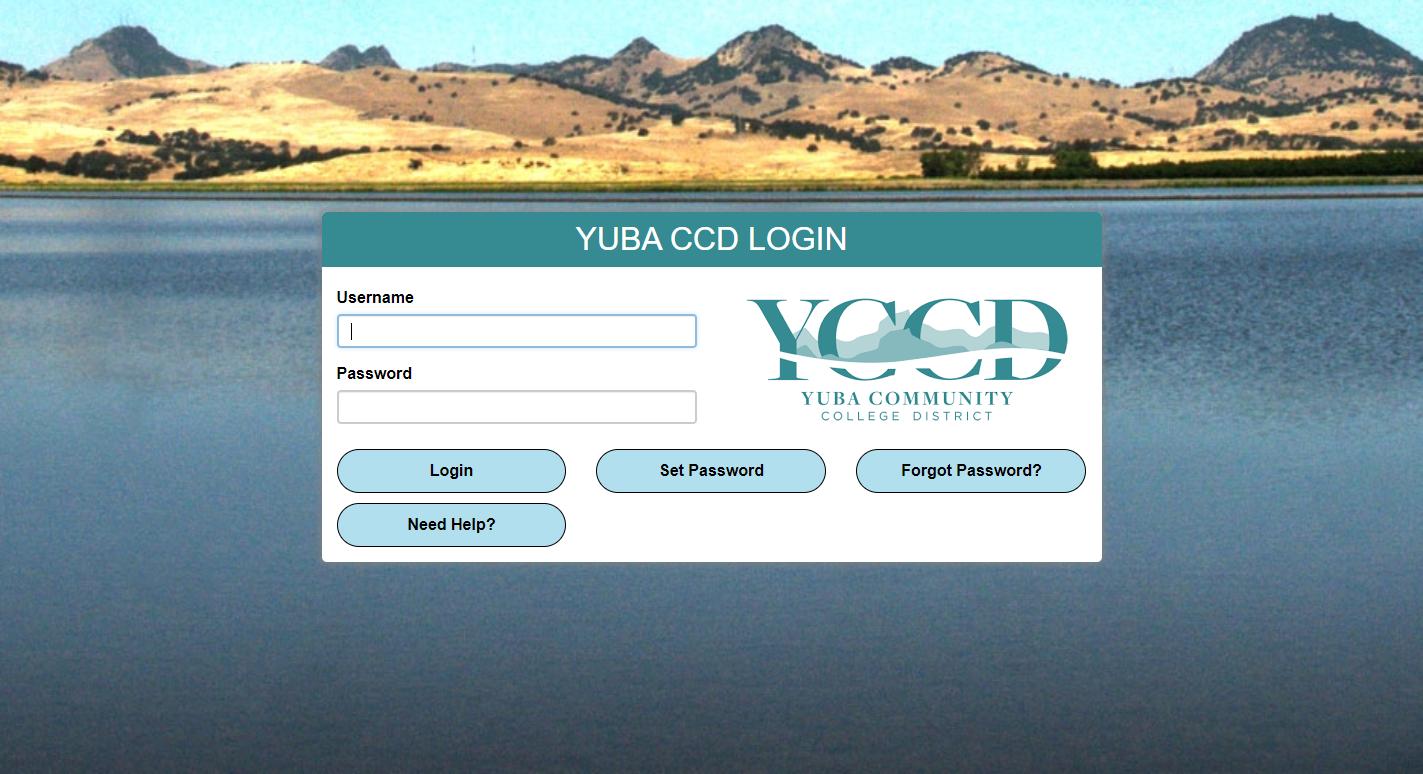 Yuba CCD Single Sign On Login Page